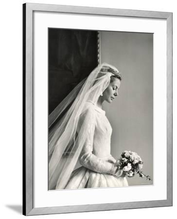 The Wedding of H.R.H the Duke of Kent and Miss Katharine Worsley at Hovingham Hall, North Yorkshire-Cecil Beaton-Framed Photographic Print