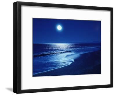 full moon over the sea photographic print by art com