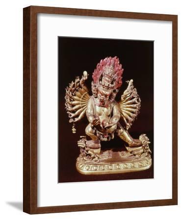 Heruka, Buddhist God, Emanation of the Buddha Aksobhya, Gilded Bronze, 18th century--Framed Photographic Print