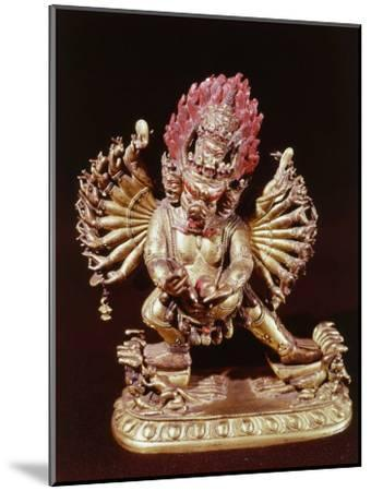 Heruka, Buddhist God, Emanation of the Buddha Aksobhya, Gilded Bronze, 18th century--Mounted Photographic Print