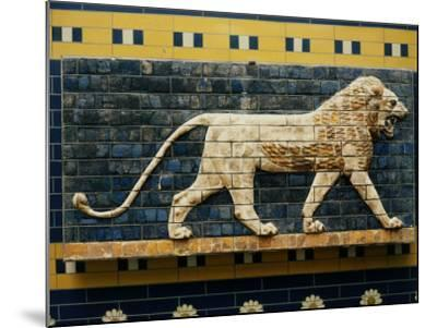 Lion, Glazed Brick Relief, 604-562 BC, Neo-Babylonian--Mounted Photographic Print