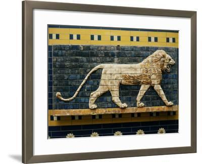 Lion, Glazed Brick Relief, 604-562 BC, Neo-Babylonian--Framed Photographic Print