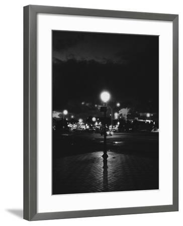 Street Corner of Night, Paris, France-Tomaru Eiichi-Framed Photographic Print