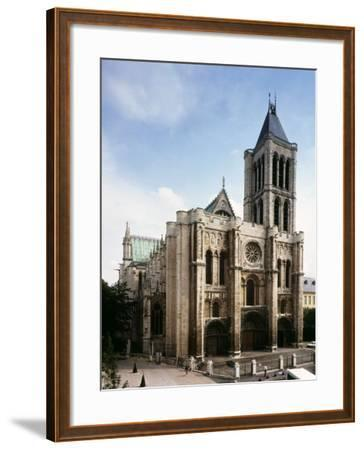 Saint-Denis Cathedral, Gothic, founded 1137 by Abbot Suger--Framed Photographic Print