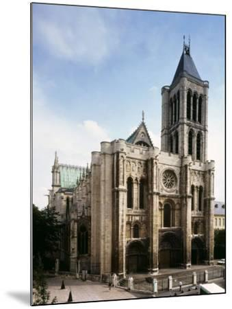 Saint-Denis Cathedral, Gothic, founded 1137 by Abbot Suger--Mounted Photographic Print