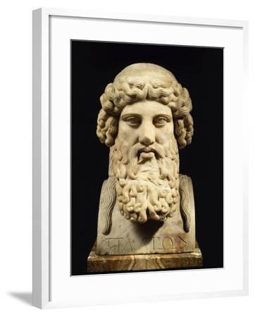 Plato, Greek Philosopher--Framed Photographic Print