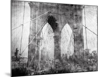 Brooklyn Bridge in Verichrome-Evan Morris Cohen-Mounted Photographic Print