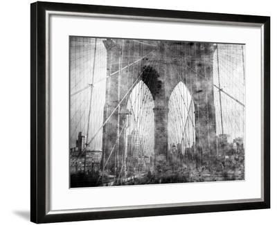Brooklyn Bridge in Verichrome-Evan Morris Cohen-Framed Photographic Print