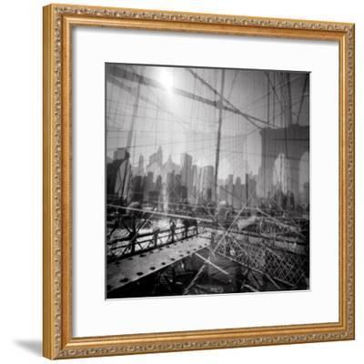 Brooklyn Bridge Triple-Evan Morris Cohen-Framed Photographic Print