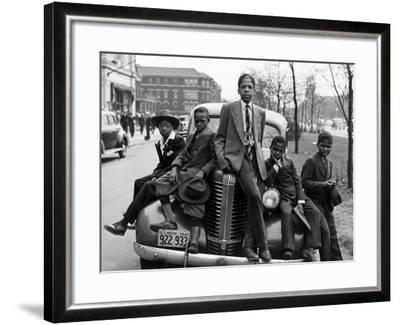 Southside Boys, Chicago, c.1941-Russell Lee-Framed Photographic Print