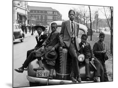 Southside Boys, Chicago, c.1941-Russell Lee-Mounted Photographic Print