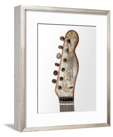 Billy F. Gibbons Custom Guitar-David Perry-Framed Photographic Print