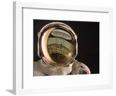 Air and Space: Apollo Helmet Visor reflecting the 1903 Wright Flyer--Framed Photographic Print