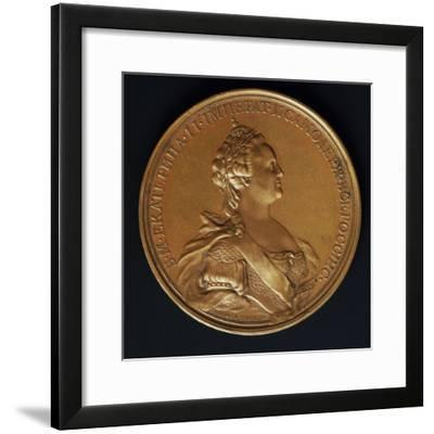 Catherine the Great, Commomoration Coin by Ivanoff--Framed Photographic Print