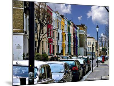 Lancaster Road Colorful Apartments in Notting Hill, London-Anna Siena-Mounted Photographic Print