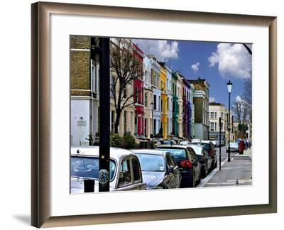 Lancaster Road Colorful Apartments in Notting Hill, London-Anna Siena-Framed Photographic Print