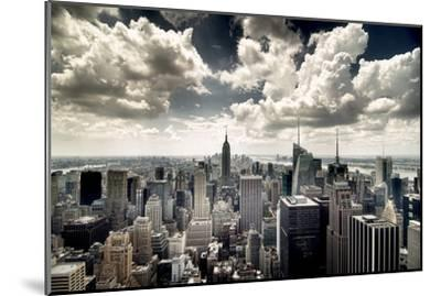 View of Manhattan, New York-Steve Kelley-Mounted Photographic Print