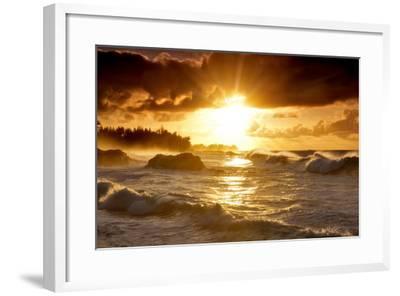 Sunset-Dennis Frates-Framed Photographic Print