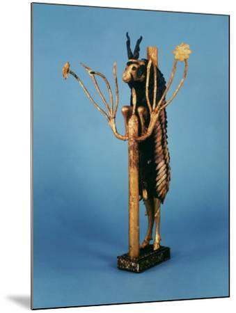 Goat in Thicket, Statuette of Gold, Copper, Lapis Lazuli, Red Limestone and Shell, Sumerian Ur--Mounted Photographic Print