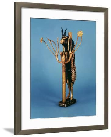 Goat in Thicket, Statuette of Gold, Copper, Lapis Lazuli, Red Limestone and Shell, Sumerian Ur--Framed Photographic Print