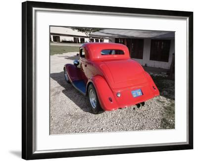 Billy F. Gibbons ZZ Top Car-David Perry-Framed Photographic Print