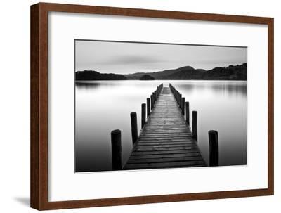 Lake Pier--Framed Photographic Print