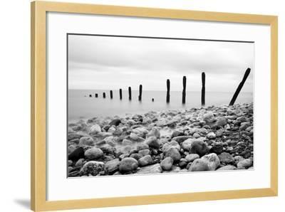 Beach Pebbles--Framed Photographic Print