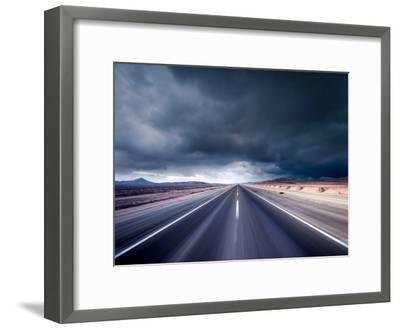 Dark Road--Framed Photographic Print
