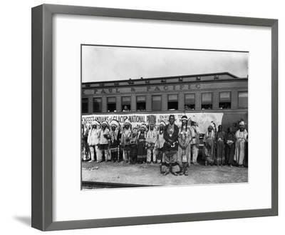The Blackfeet Indians from Glacier National Park--Framed Photographic Print