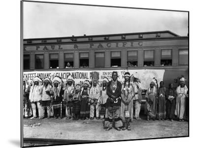 The Blackfeet Indians from Glacier National Park--Mounted Photographic Print