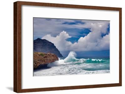 Wave Hello-Dennis Frates-Framed Photographic Print