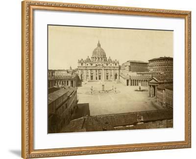 St. Peter's Square-Giacomo Brogi-Framed Photographic Print