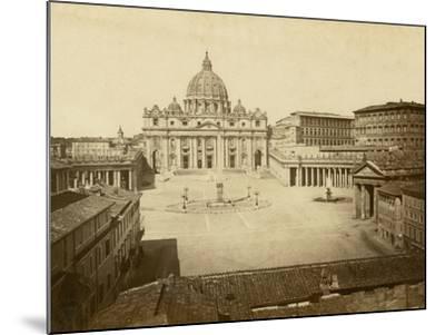St. Peter's Square-Giacomo Brogi-Mounted Photographic Print