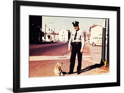 Suzie the Railroad Dog--Framed Photographic Print