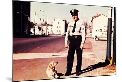 Suzie the Railroad Dog--Mounted Photographic Print