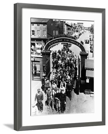 The Mount Clare Shops: the Main Gate--Framed Photographic Print