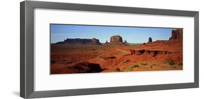 Monument Valley, Colorado Plateau, the Red Sandstone Buttes of the Valley, a National Park-Barry Herman-Framed Photographic Print