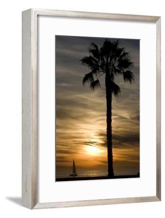 Sunset, Santa Monica Beach-Natalie Tepper-Framed Photographic Print