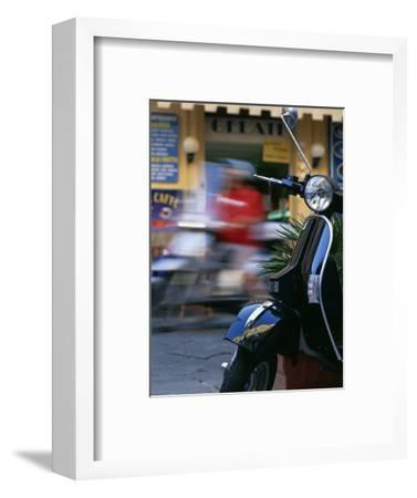Vespa Scooters Outside a Gelateria (Ice Cream Parlour) Tropea Calabria Italy-Julian Castle-Framed Photographic Print
