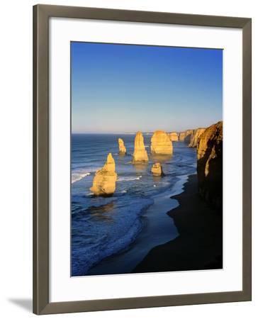 Victoria, Great Ocean Road, Sunrise on the Twelve Apostles-Marcel Malherbe-Framed Photographic Print
