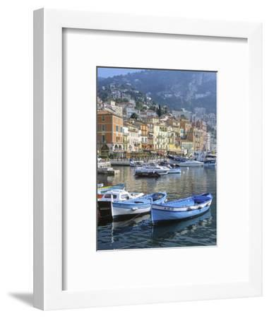 Cote D'Azur, Villefranche-Sur-Mer, View on Town and Port-Marcel Malherbe-Framed Photographic Print
