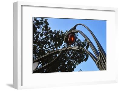 Metro Entrance, Paris - Art Nouveau-David Churchill-Framed Photographic Print