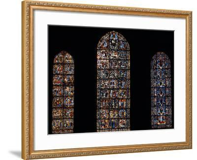 Stained Glass Window, Chartres Cathedral, France-Pol M.R. Maeyaert-Framed Photographic Print