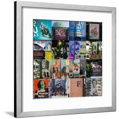 Multiple Compilation of Graphic Posters in Venice, Italy-Mike Burton-Framed Photographic Print
