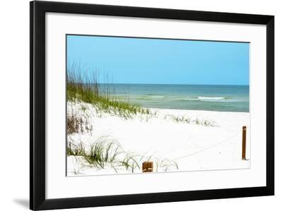 White Sandy Beach II-Gail Peck-Framed Photographic Print