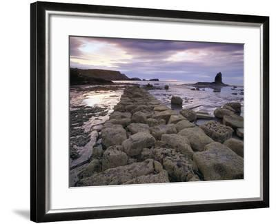 Saltwick Bay Is South of Whitby and the Distinctively Shaped Black Nab Rock- LatitudeStock-Framed Photographic Print