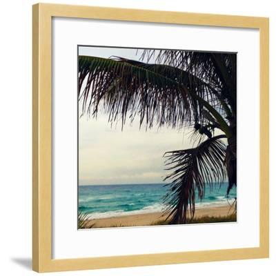 Palm and Beach-Lisa Hill Saghini-Framed Photographic Print