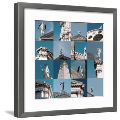 Multiple Views of Venice-Mike Burton-Framed Photographic Print