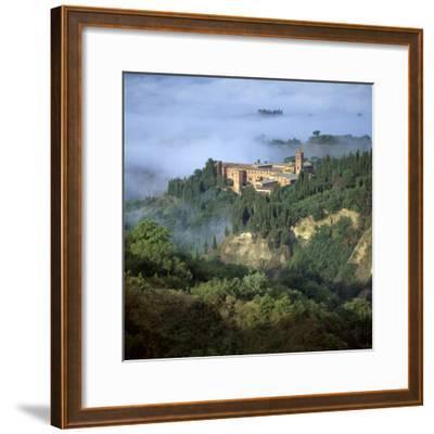 Abbazia Di Monte, Oliveto Maggiore, Tuscany, Italy-Joe Cornish-Framed Photographic Print