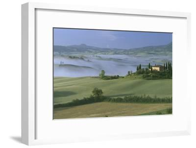 Misty Morning at the 'Belvedere', Val D' Orcia, Tuscany-Joe Cornish-Framed Photographic Print